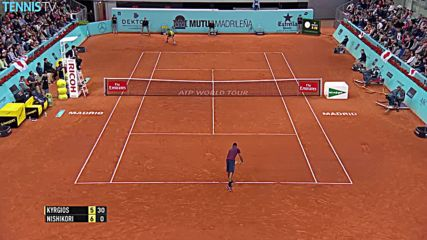 Kyrgios Hits a Lob Tweener - Madrid 2016 Hot Shot