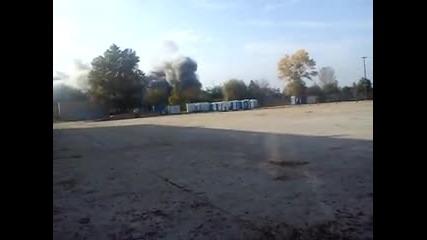 Взривяване на комина на Евн в Пловдив 14.10.2014