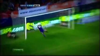 Кристиано Роналдо вкара гол на годината срещу Осасуна!