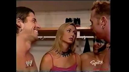 Тест се гаври със Стейси Киблър - Wwe Raw 18.08.2003