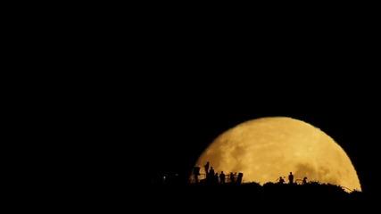 Изгрев на луната в Нова Зеландия