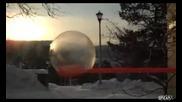 Жестоко замръзване на сапунено балонче