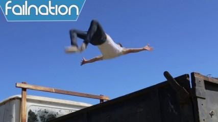 Паркур падания - Компилация