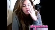 Mileyworld Miley Cyrus talking about The Climb and radio tour.avi