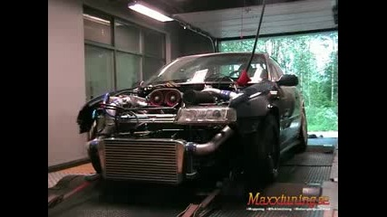 Opel Calibra turbo 675 Hp on dyno