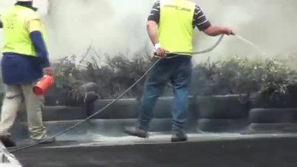 Тоя тотално запали гумите