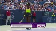 Cincinnati 2015 Final Simona Halep vs Serena Williams Set-1