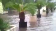 Потоп отново удави Бургас 19.06.2014, входа на пристанището