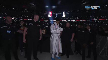 """Антъни Джошуа излиза на ринга, """"Уембли"""" настръхва"""