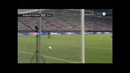 Rauls First Goal For Schalke (schalke 1 - 1 Bayern Munich)