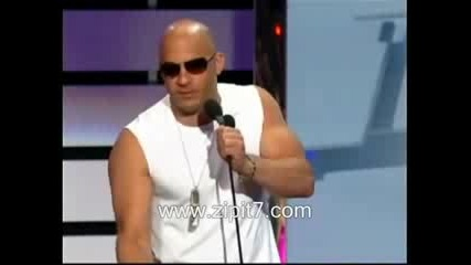 Vin Diesel Billboard Latin Music 2009 Presenting Don Omar