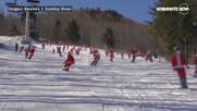 Стотици дядоколедовци на ски превзеха пистите