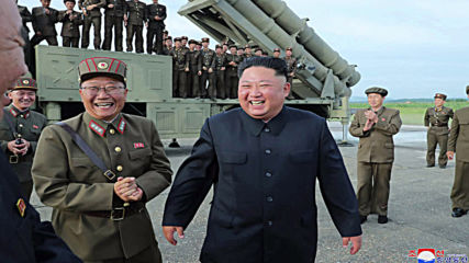 North Korea: Kim Jong Un oversees rocket launcher test - state media *STILLS*