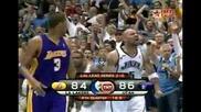 Carlos Boozer Dunks Over Pau Gasol (jazz - Lakers)