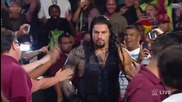 Roman Reigns crashes Seth Rollins and Kane's -eulogy- for Dean Ambrose- Raw, Aug. 25, 2014