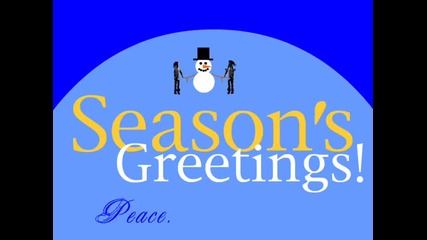 Season's Greetings Snowman - Готова Windows Movie Maker анимация