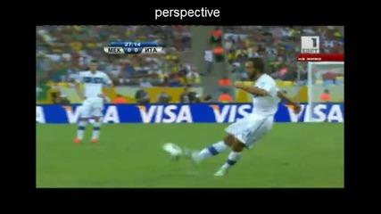 16.6.2013 | Пирло избухва с страхотен гол от пряк свободен срещу Мексико