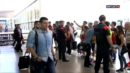 Барселона в Берлин /fc Barcelona's departure to Berlin