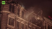 USA: Firefighters battle huge blaze in NYC, second of the night
