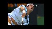Federer - Плосък Сервис На Забавен Кадър