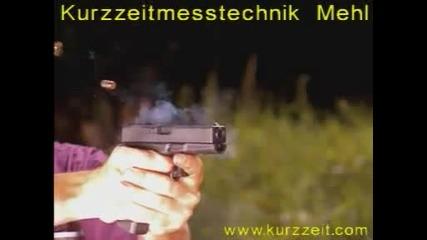 Стрелба с Glock-18 на забавен каданс