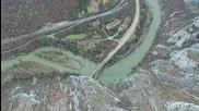 Полет над скалните феномени в района на село Лютиброд и край Черепишки манастир заснети с дрон