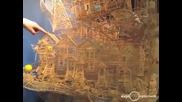 Невероятната конструкция на Скот Уивър от кибритени клечки