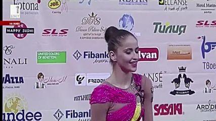 Бронзов медал за Невяна Владинова - лента - Световна купа по художествена гимнастика - София 2016