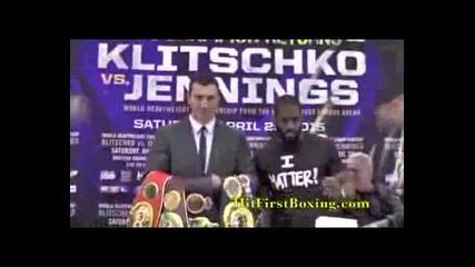 Владимир Кличко Срещу Брайънт Дженингс Изправяне Един Срещу Друг На Прес Конференцията