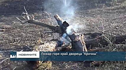 Пожар горя край двореца