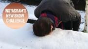 Най-новото снежно предизвикателство, което побърка Инстаграм