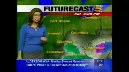 Wlwt News 5 (2005) - Kristen Cornetts Morning Forecast