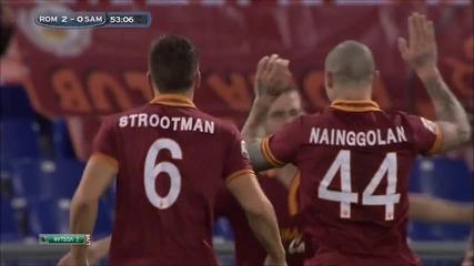 Roma vs Sampdoria 3-0 Carlo Zampa