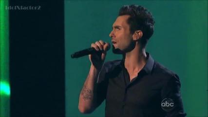 Maroon 5 & Christina Aguilera - Moves Like Jagger | American Music Awards 2011
