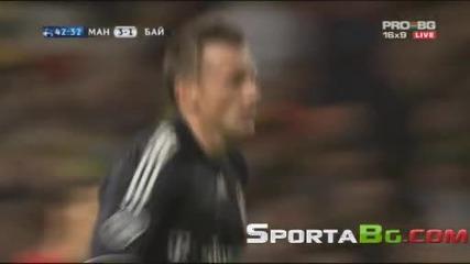 Манчестър Юнайтед 3 - 2 Байерн Мюнхен 1/4 - финал реванш Шампионска Лига общ резултат 4:4 07.04.2010
