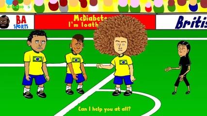 Как реално изглеждаше ситуацията на мача Бразилия - Хърватия