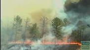 Вижте колко бързо се разраства горският пожар