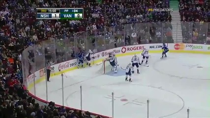 Vancouver Canucks vs Nashville Predators 2 - 1 [01.26.11]