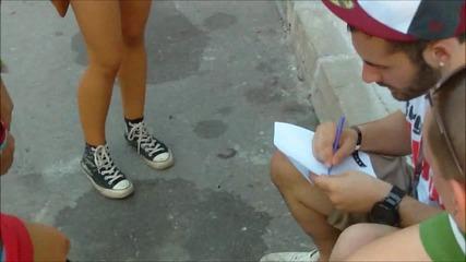 Borgore се подписва върху Вени и Габи на On! Fest (4g)