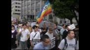 Около 200 души протестираха в Токио срещу ядрената енергетика