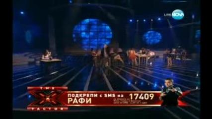 """Невероятно изпълнение на Рафи """"x Factor"""" Финала"""