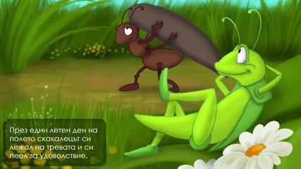 Мравката и щурецът - Приказка за деца
