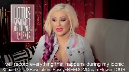 Christina Aguilera се обръща към феновете си