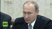 Russia: Putin welcomes Xi Jinping to 2015 BRICS summit
