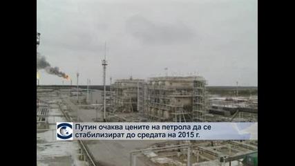 Путин очаква цените на петрола да се стабилизират към средата на 2015 г.