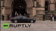 UK: Chinese President Xi Jinping departs Manchester Town Hall