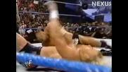 Скалата и Мик Фоли срещу Били Гън и Джеси Джеймс 10.02.2000
