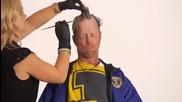 Бездомен военен ветеран се преобразява в салон за подстригване с вид на добре изглеждащ мъж