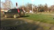 Ето как руски автоджигит завърши бясното си каране !