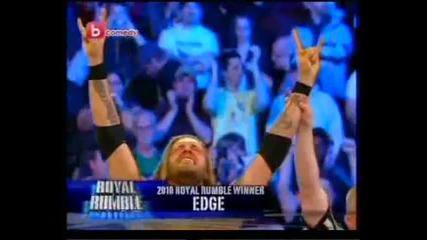 Wwe Острието спечели кралското меле и отива на Кечмания 26 - Royal Rumble 2010 (vs)
